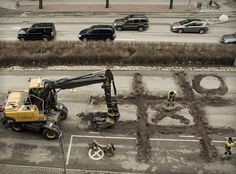 """Roadworker's Coffee Break."" Erik Johansson: ""I get inspired by things around me in my daily life and all kinds of things I see."""