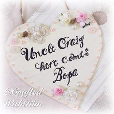 #craftedwithkim #handpainted #handmade #handcut #calligraphy #vintage #vintagewedding #vintagefloral #flowergirl #weddingheart #weddingplaque #paperrose #pearls #hessian #newlyweds Www.facebook.com/CraftedWithKim