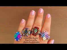▶ Crystal Glitz Beaded Ring Tutorial - YouTube