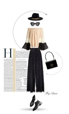 """""""In the city"""" by anne-977 ❤ liked on Polyvore featuring Brunello Cucinelli, Chloé, Janessa Leone, Gucci and Dolce&Gabbana"""