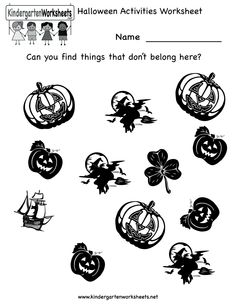 Free Halloween Coloring Sheets For Kindergarten - Coloring Page Halloween Worksheets, Halloween Activities, Halloween Fun, Work Activities, Cute Halloween Coloring Pages, Halloween Coloring Pictures, Kindergarten Coloring Pages, Kindergarten Colors, Coloring For Kids