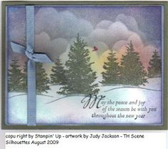 Winter Scenic Season by Judystamper - Cards and Paper Crafts at Splitcoaststampers