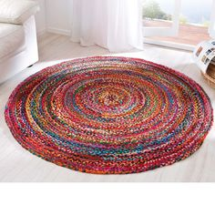 Billig runder teppich bunt