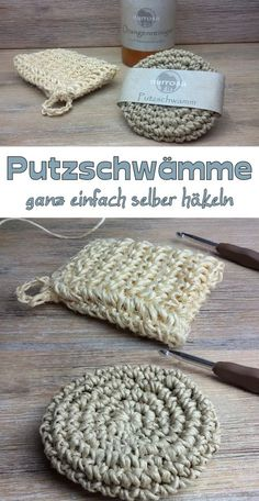 Putzschwamm häkeln / selber machen Crochet cleaning sponge / do it yourself After I now make my cleaner for the kitchen itself (just make orange cleaner itself), I would also like to buy sponges no more … Crochet Diy, Crochet Home, Crochet Kitchen, Vintage Crochet, Knitting Patterns, Crochet Patterns, Crochet Symbols, Diy Cleaning Products, Cleaning Sponges