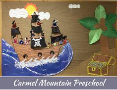 Fun and interactive classroom bulletin board! Summer Preschool Activities, Ocean Activities, Carmel Mountain, Classroom Bulletin Boards, Summer Fun, Learning, Disney Princess, Disney Characters, Crafts