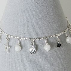 White Moonstone and Sterling Silver Celestial by bluesprucecrafts, $31.00