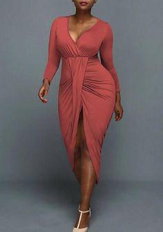 XXL Bust(cm) Waist(cm) Hip(cm) Length(cm) Sleeve Length(cm) Type :Loose Material :Dacron Color :Nacarat Decoration :Ruffle Pattern :Plain Collar :Collarless Length Style :Below Knee Sleeve Length :Long Sleeve Long Sleeve Maxi, Maxi Dress With Sleeves, Slit Dress, White Maxi Dresses, Tight Dresses, Fashion Dresses, Women's Fashion, Bodycon Dress, Dress Long