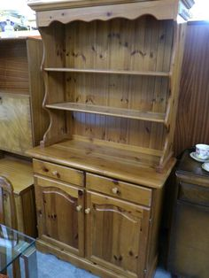 Stunning solid pine dresser, measurements are H-184cm W-99cm D-43.5cm -------------------- £125 (pc467)