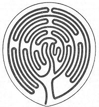 FIG. 55.— Labyrinth in Poitiers Cathedral. (Auber.)