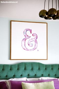 Ampersand watercolor. New link: http://www.thehandmadehome.net/2014/09/diy-ampersand-art/