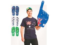 Thongs, Inflatable Novelty Hand, Cap Or T-Shirt