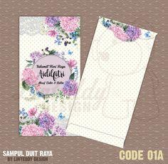 Sampul Duit Raya Cute Lace Floral Desain Produk Undangan Perkawinan Desain