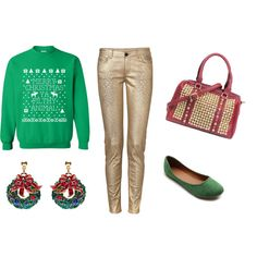"""Bling Christmas Sweater Party"" by handbagheaven on Polyvore"
