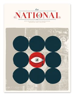 The National Boston concert poster by Delicious Design League