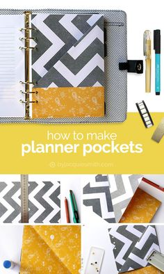 How to Make Planner Pockets at byjacquiesmith.com | Planner pockets are great for storing stickers, receipts, photos, cards + more. It's simple + easy to make planner pockets.