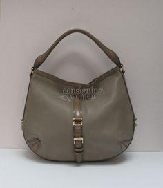 Shop Online - Pre-Owned Online. Burberry Tan Grafton City Leather Hobo bdd4ddd1cec5d