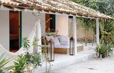 Casa em Trancoso, na Bahia, com jeito de cabana de pescador
