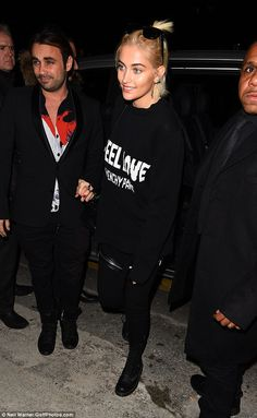 Fashionista: Paris Jackson looked sensational in a simple yet stylish ensemble as she attended the Givenchy show in Paris on Friday