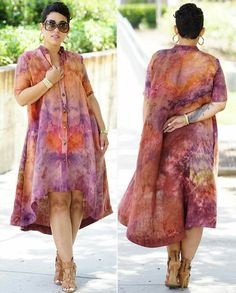"""This shirt dress is the women's freebie pattern in the June issue of…"""" African Print Dresses, African Fashion Dresses, African Dress, African Attire, African Wear, African Women, Diy Fashion, Fashion Outfits, African Design"""