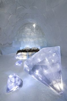 Sweden Ice Hotel is the worlds largest ice hotel! Totally cool!