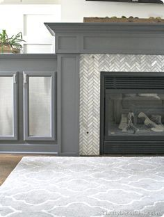 Cool tile surround on fireplace wall. | Interior Design ...
