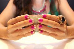 Glittery French mani