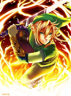 The Legend of Zelda, Link / Link: Through Fire by kathy100 on deviantART