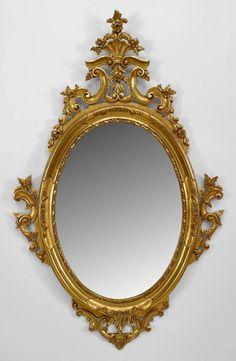 French Victorian mirror wall mirror gilt