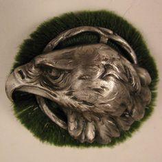 Antique Patriotic Eagle Brooch