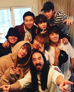 Steve Aoki and BTS announce upcoming collaboration I'm so proud and happy for our boys co-army ☺👏 Jhope, Namjoon, Bts Bangtan Boy, Steve Aoki, Bts France, Bangtan France, Hip Hop, Foto Bts, K Pop