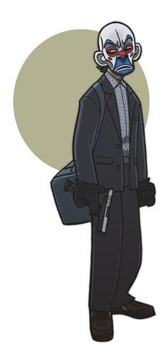 Bank Robber Joker Cartoon by ~jimmymcwicked