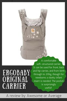 The Ergobaby is a comfortable and convenient SSC - a must-have in our household. Cool Baby Stuff, Baby Wearing, Baby Gear, Kids And Parenting, Infant, 4 Months, The Originals, Kiwi, Children