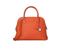Bolide Hermes bag in fire orange taurillon clemence leathe