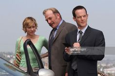 Monk and the Other Detective' Episode 1 -- Pictured: Traylor Howard as Natalie Teeger, Ted Levine as Leland Stottlemeyer, Jason Gray-Stanford as Randall Disher -- Natalie Teeger, Detective Monk, Traylor Howard, Monk Tv Show, Adrian Monk, Jason Gray, Tony Shalhoub, New Tv Series, Season 4