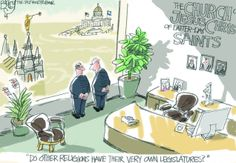 This Pat Bagley editorial cartoon appears in The Salt Lake Tribune on Friday, Jan. Religion And Politics, Drinking Games, Latter Day Saints, Atheism, The Funny, Utah, Place Card Holders, Lol, Contrast