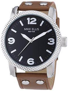 Mike Ellis New York Herren-Armbanduhr XL a:ne Analog Quarz Leder SL4316/3 - http://uhr.haus/mike-ellis-new-york/mike-ellis-new-york-herren-armbanduhr-xl-a-ne-quarz-2