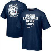 21afcca253 Nike UCONN Huskies Basketball Never Stops T-Shirt - Navy Blue Uconn Huskies  Basketball