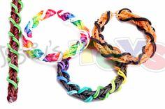 Spiral Wrap Fishtail Bracelet on Rainbow Loom or Monster Tail