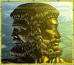 Janus né du chaos. Dieu des dieux, maître du temps et des portes.