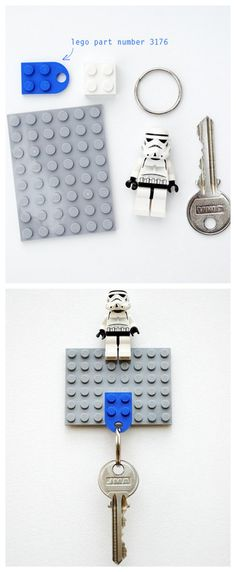 LILOUCA • Do It Yourself: How to make a LEGO key chain ...