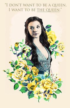Margaery Tyrell  Game of Thrones poster by HLstore on Etsy, $10.00