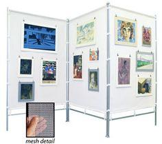 Flourish Freestanding Steel Frame MeshPanel Display Wall