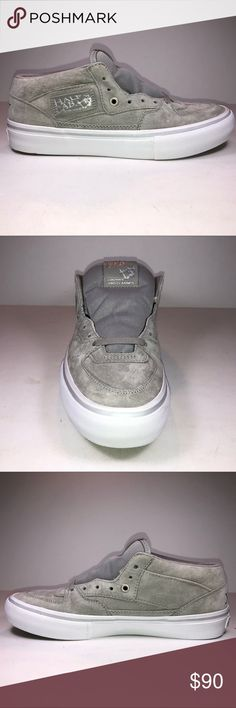 info for 6385a b2e80 Vans Half Cab Pro 25th Anniversary Silver Sneakers New With Damaged Box See  Pictures For Details