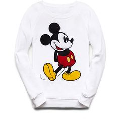 Forever 21 Women's  Mickey Mouse Raglan Sweatshirt ($25) ❤ liked on Polyvore featuring tops, hoodies, sweatshirts, sweaters, sweatshirt, mickey mouse, forever 21, forever 21 sweatshirt, long tops and graphic sweatshirts