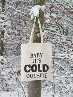 baby its cold outside bag winter snow outside