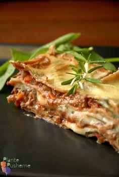 Overdådig vegansk lasagne med lækkert fyld af den populære kødFRIsovs og masser af smeltet ÅHst - i perfekt balance. Plantemad når det er aller bedst ;)