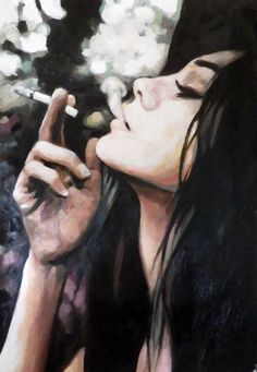 Smoking Profile - Thomas Saliot  Oil on canvas  90/140cm