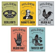 Hilden Brewing Co. Labels