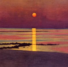 Felix Vallaton sunset