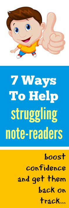 If you have a struggling note reader you know what a hit it can be to their confidence. Here's 7 ways to help get them back on track and feelin' fine! #PianoTeaching #PianoStudent #NoteReadingHelp